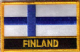 Finland Embroidered Flag Patch, style 09.